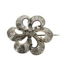 Sterling Silver Victorian Brooch | From a unique collection of vintage  at http://www.1stdibs.com////