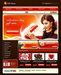 Gifts Presents osCommerce Templates by Lovely