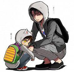 Levi and Eren. SO CUTE <3