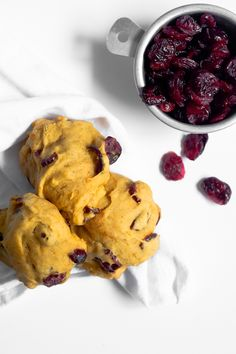 pumpkin cranberry drop cookies