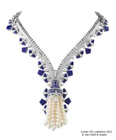 Nov 30, 2012. Van Cleef & Arpels Zip Necklace. In 1950, the Duchess of Windsor, a.k.a. Wallis Simpson of monarch-seducing infamy, suggested to jewelry house Van Cleef & Arpels that they should design a necklace utilizing the technical magic of the zipper.  In 1951, the Zip was created–a feat of mind-blowing design and awe-inspiring craftsmanship–the piece can be worn open as a necklace and when closed, becomes a bracelet.