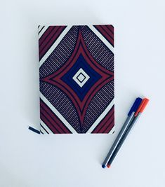 2018 Diary, planner, agenda, organiser, journal, african fabric, ankara, A5 diary by MissSemedoCreations on Etsy