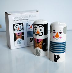 Salt and pepper shakers by Ingela P Arrhemius @Giorgia Papagno you will love this!