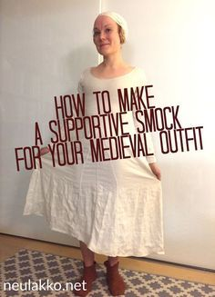 Download the thorough handout I made for a workshop I gave on making a supportive underdress at Visby medieval week at Kapitelhusgården in 2015: How to make a supportive smock – lady, …
