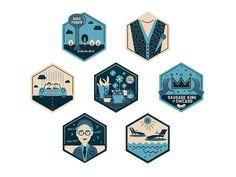 Ferris Bueller's Day Off Badges by Phalen Elonich