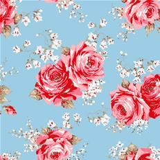 Cath Kidston fabric - looking to add some red to my blue bedroom