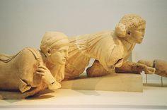 Greece, Peloponnesos, Elis, Olympia Museum, Lapith women