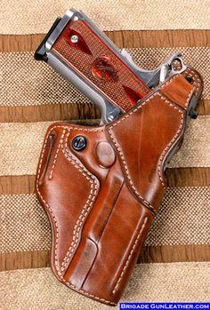 M-1 Hoplon Leather Gun Holster for a Springfield-1911-fbi-leather-gun-holster