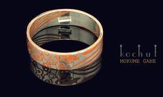 Ring Mokume technique . Handmade. Materials: silver 925, copper .