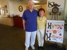 Happy Halloween from Jack and Anita! #Seniorliving #assistedliving #villabonita #independentliving #memorycare #elderly #residents #chulavista #california #seniors  #halloween