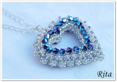 Rita Pearls: Passione / second Beaded Jewelry Designs, Bead Jewellery, Seed Bead Jewelry, Seed Bead Necklace, Beaded Earrings, Beaded Bracelets, Crystal Beads, Handcrafted Jewelry, Jewelry Crafts