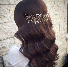Wedding wreath hair vine rustic hair piece gold headpiece