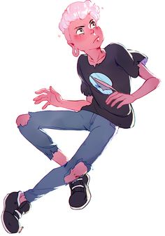 Pink Lars from Steven Universe.