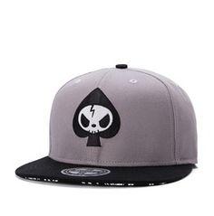 e7e628fc372 Fashion Grey Skull Summer Men Baseball Cap Men Hip Hop Hat 237