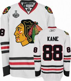 nhl reebok chicago blackhawks 88 patrick kane 2010 stanley cup finals premier white road hockey