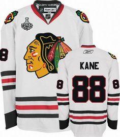 NHL Reebok Chicago Blackhawks #88 Patrick Kane 2010 Stanley Cup Finals Premier White Road Hockey Jersey  #Jerseys #Chicago_Blackhawks