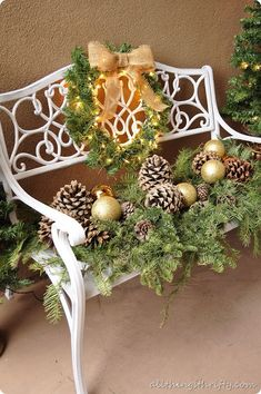 outdoor christmas decorating ideas nice for front porch or a back patio