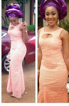 African Lace Gown Style