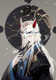 Âm Dương Sư-Onmyoji · Yêu Hồ~ ♡ Chàng Trai Anime, Nghệ Thuật Anime, Nghệ  Thuật Ảo Ảnh