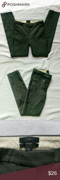 J.  Crew Ryder pants size 00 Style B7854  Inseam 29 inches  Fabric  60% cotton  38% nylon 2% elastane  In great condition no flaws J. Crew Pants