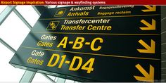 Airport signage and wayfinding inspiration from designworkplan