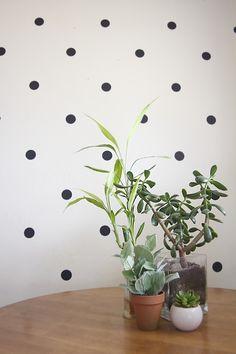 DIY: polka dot wall