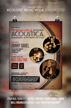 Charity Concert Flyer Template  Flyer Template Concert Flyer And