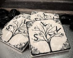PersonaliTree Personalized Family Name Tree by sentimentalstones, $10.00