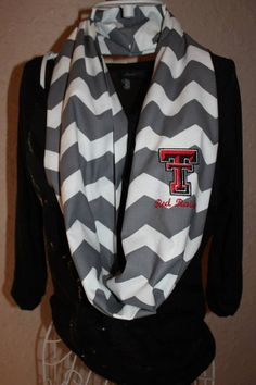 Texas Tech chevron scarf. Since I'm obsessed with scarves in general,  I might need this for game day