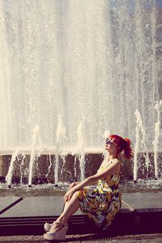 The Fountain Fountain, Disney Characters, Fictional Characters, Disney Princess, Water Fountains, Fantasy Characters, Disney Princesses, Disney Princes