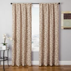 Instantly update your home's decor with these new window panels featuring subtle colors and a lovely vine pattern. Create a more stylish atmosphere in any room by adding these exquisite curtain panels to your interior design.