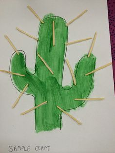 Wild West craft made by painting a cactus template & gluing on match sticks with PVA glue. Wild West craft made by painting a cactus template & gluing on match sticks with PVA glue. K Crafts, Daycare Crafts, Classroom Crafts, Toddler Crafts, Crafts To Make, Cowboy Crafts, Western Crafts, Rodeo Crafts, Wild West Activities