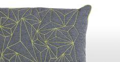 Apex Embroidered Cushion 45 x 45cm, Lime | made.com