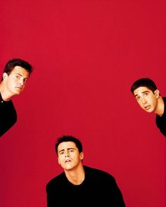 Matthew Perry, Matt LeBlanc and David Schwimmer