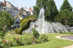 Rond point Blossac Chatel, Villa, Le Havre, Parcs, Points, Monuments, Nature, Waterfall, Photos