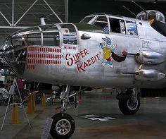 """Super Rabbit"" Nose Art B-25 Mitchell"