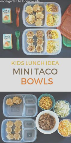 Lunch For The Minis: Mini Taco Bowls – 2019 – Lunch Diy Lunch For The Minis: Mini Taco Bowls 2019 Kids Lunch: Mini Taco Bowls The post Lunch For The Minis: Mini Taco Bowls 2019 appeared first on Lunch Diy. Kids Lunch For School, Healthy Lunches For Kids, Healthy School Lunches, Toddler Lunches, Kids Meals, Cold Lunch Ideas For Kids, Healthy Snacks, Easy Meals, Teenage Lunch Ideas