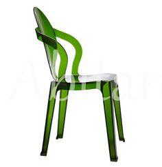 Abitare Interiorismo // Transparent or coloured translucent recyclable polycarbonate frame.