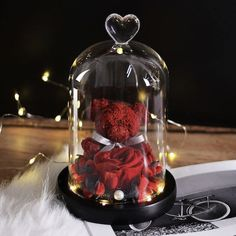 Teddy Bear Rose Christmas Home Wedding Decoration Birthday Valentine's Day Gifts Supplies Home Wedding Decorations, Christmas Decorations To Make, Birthday Decorations, Bear Valentines, Valentine Day Gifts, Christmas Birthday, Christmas Home, Rose Dome, Teddy Bear Gifts