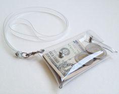 Mini Clutch Card holder with Neck strap chain por 9September, $6.90