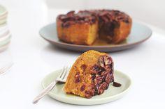 Cranberry Pumpkin Pecan Upside Down Cake #vegan | des olives