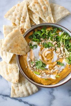 Thai Butternut Squash Dip - all the flavors of Thai food in an easy and delicious dip! | @yestoyolk.com