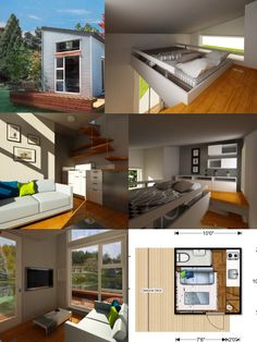 Nomad Micro Home 05 100 Sq. Ft. Prefab NOMAD Micro Home: Could You Live  This Small? | Tiny Homes And Houses | Pinterest | Prefab, Bedrooms And Tiny  Houses