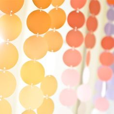 Create a colorful mobile to decorate for a party!