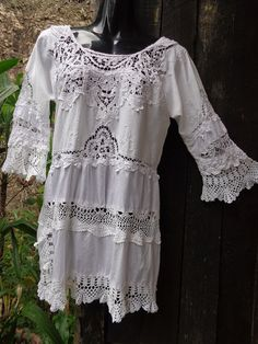 alternative lace tunic bohemian victoriana by WildColonialGirl