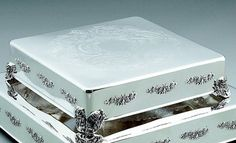 NEW SILVER WEDDING CAKE PLATEAU TABLEAU STAND SQUARE 18 INCH- $149