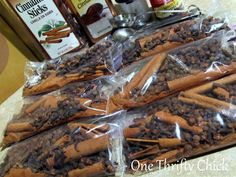 One Thrifty Chick: Teacher Gifts {Halloween Simmering Spices} For everyone in the office - perfect gift!!!!!!