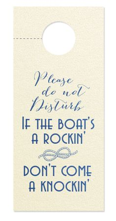 Door hangers are a creative touch to any wedding! Add these in your welcome package for guests at your destination wedding. http://www.foryourparty.com/products/editor/8759