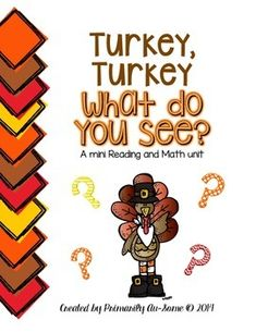 Your pre-k or kinders will love this fun unit! It encompasses a variety of Kinder skills. What's included? Pg. 3-13 - Easy Reader Pg. 14 - Answering questions sheet Pg. 16- 20 Pre-Primer Dolch Sight Words Cards (Great for Go Fish!) Pg. 22- 25 Clothes Pin Turkey Clip ( Counting the Thanksgiving...