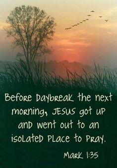He prayed alone...